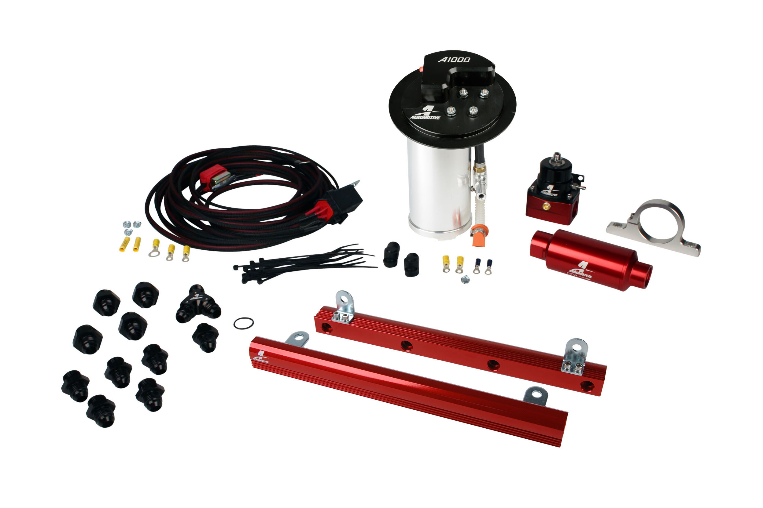 2010-2017 Ford Mustang GT Aeromotive Stealth A1000 Race Fuel System w/5.4L GT500 4 Valve Fuel Rail