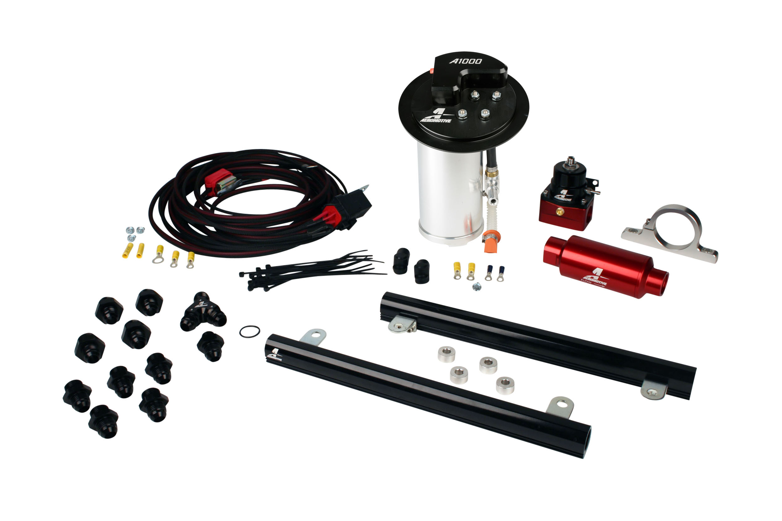 2010-2017 Ford Mustang GT Aeromotive Stealth A1000 Race Fuel System w/5.4L Supercharged Cobra Jet Fuel Rails