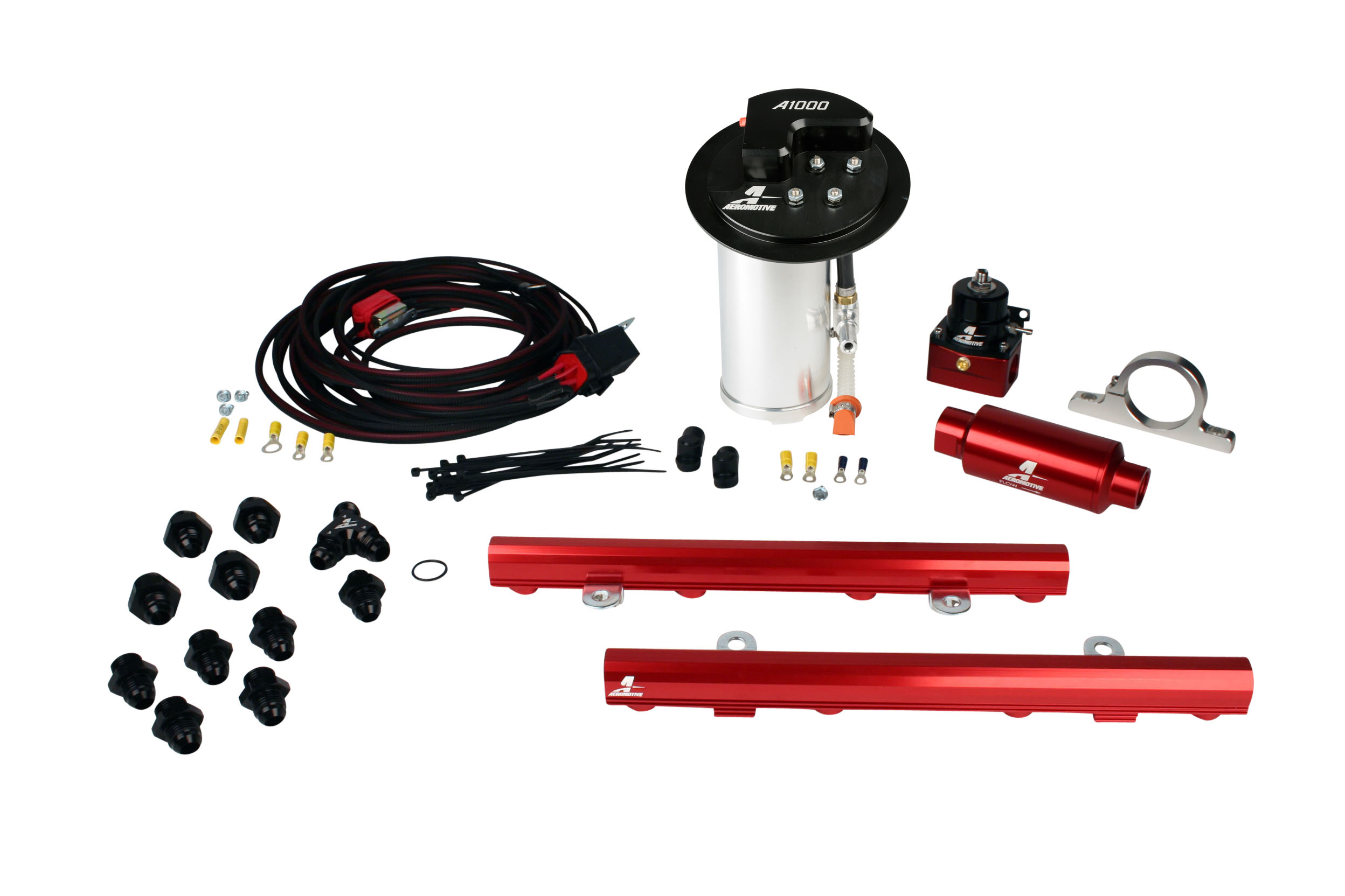 2010-2017 Ford Mustang GT Aeromotive Stealth A1000 Race Fuel System w/5.0L Coyote 4 Valve Fuel Rail