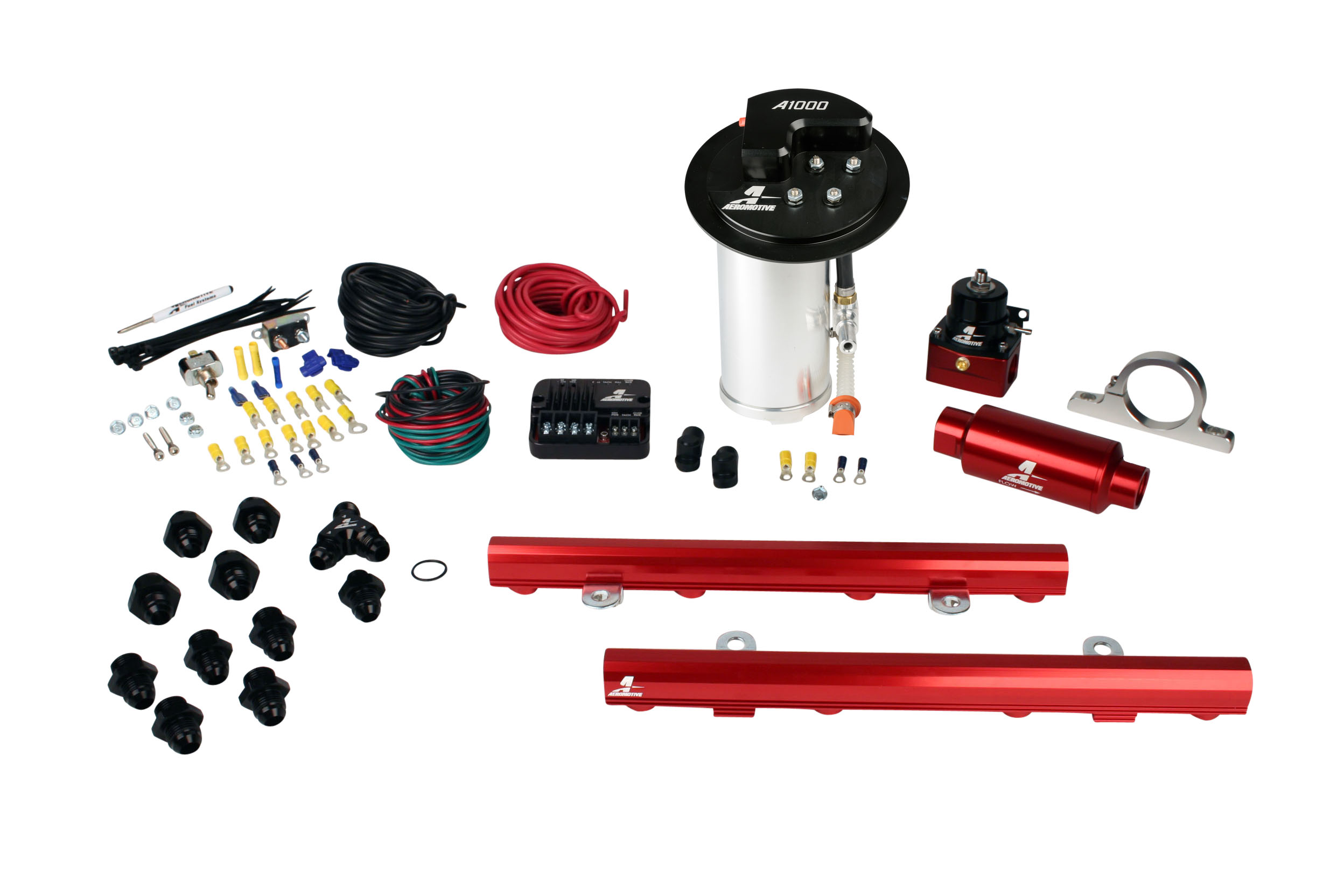 2010-2017 Ford Mustang GT Aeromotive Stealth A1000 Street Fuel System w/5.0L Coyote 4 Valve Fuel Rail