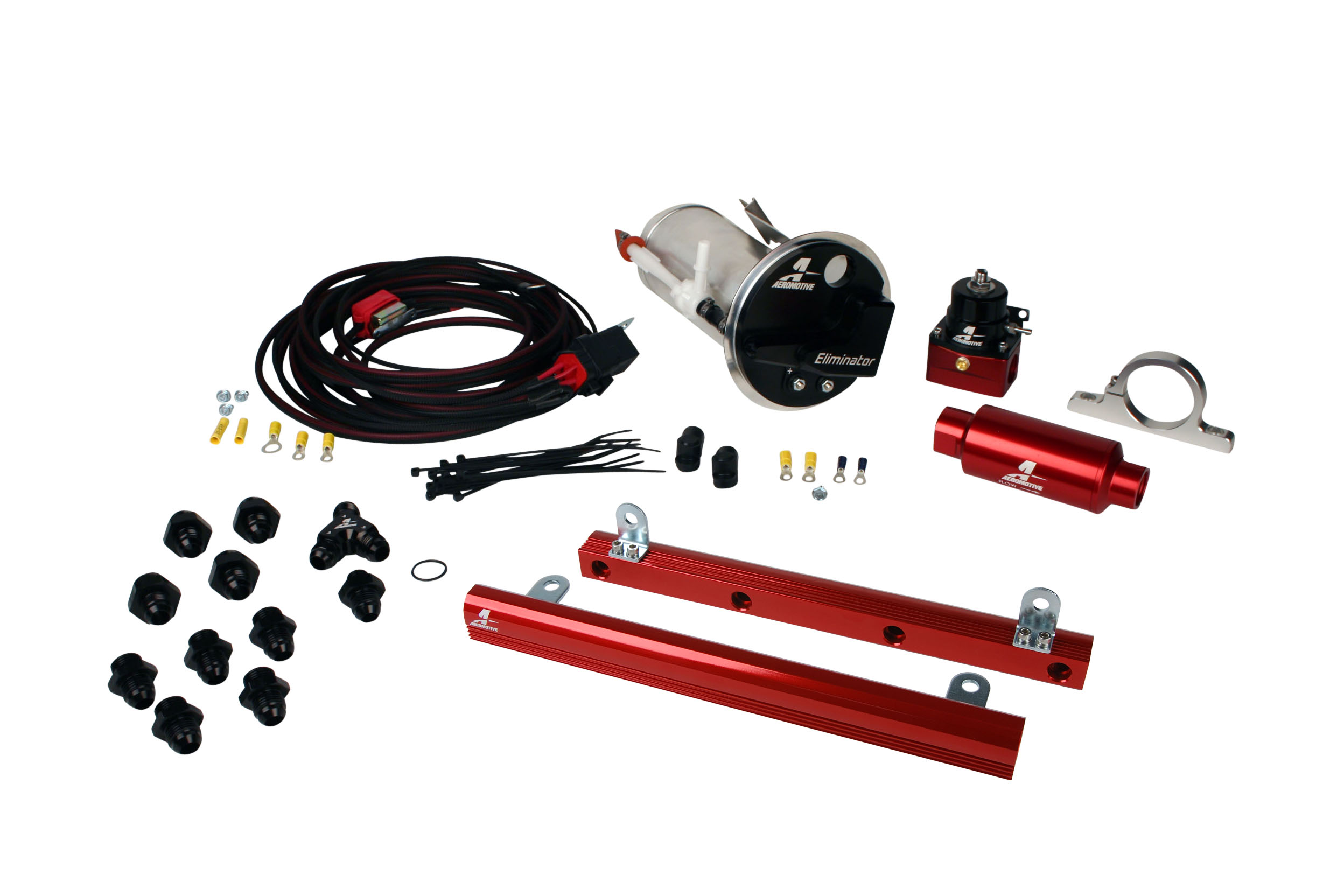 2005-2009 Ford Mustang GT Aeromotive Stealth Eliminator Race Fuel System w/5.0L 4-V Fuel Rails GT500 Swap