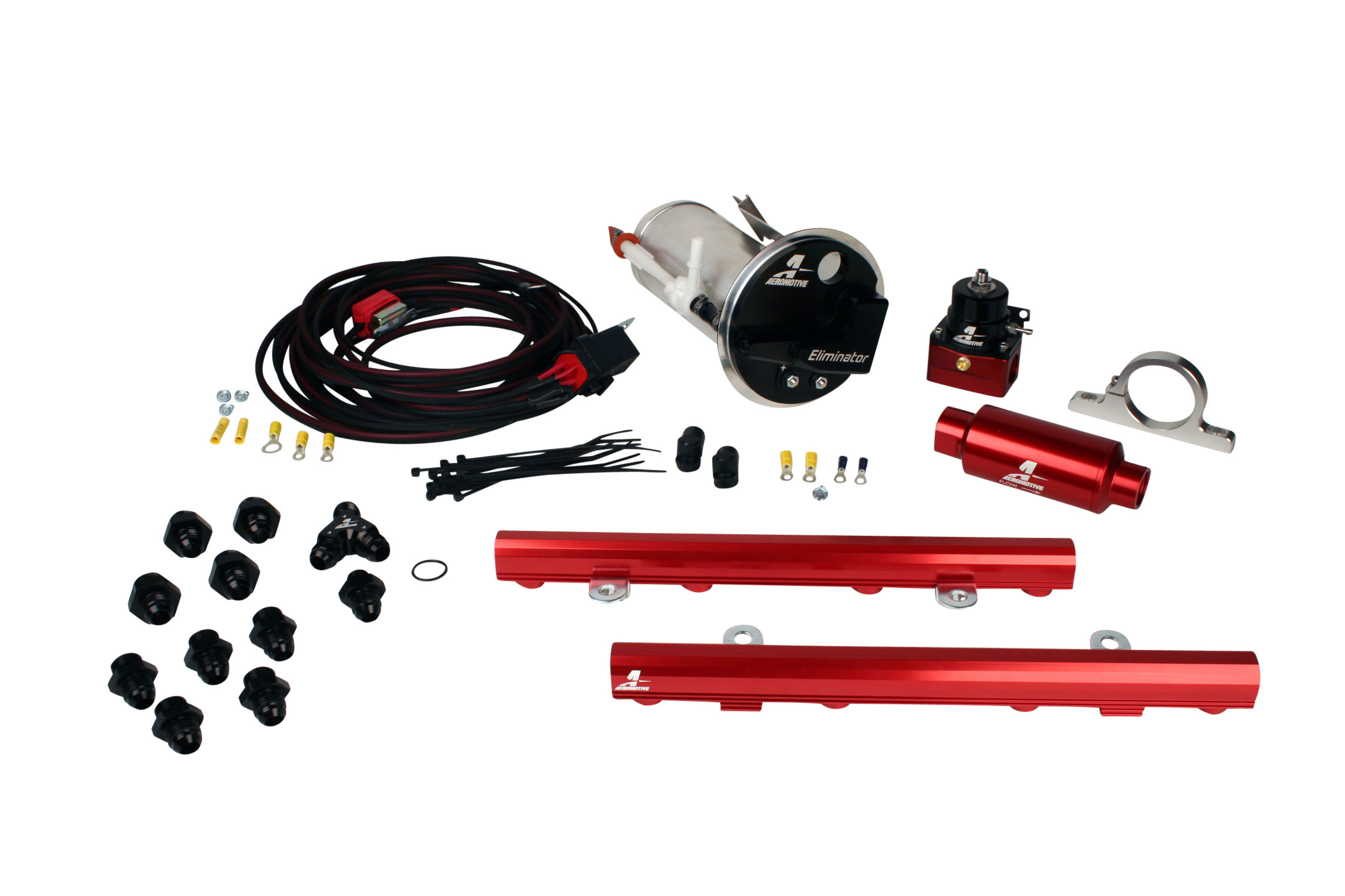 2005-2009 Ford Mustang GT Aeromotive Stealth Eliminator Race Fuel System w/5.0L 4-V Fuel Rails