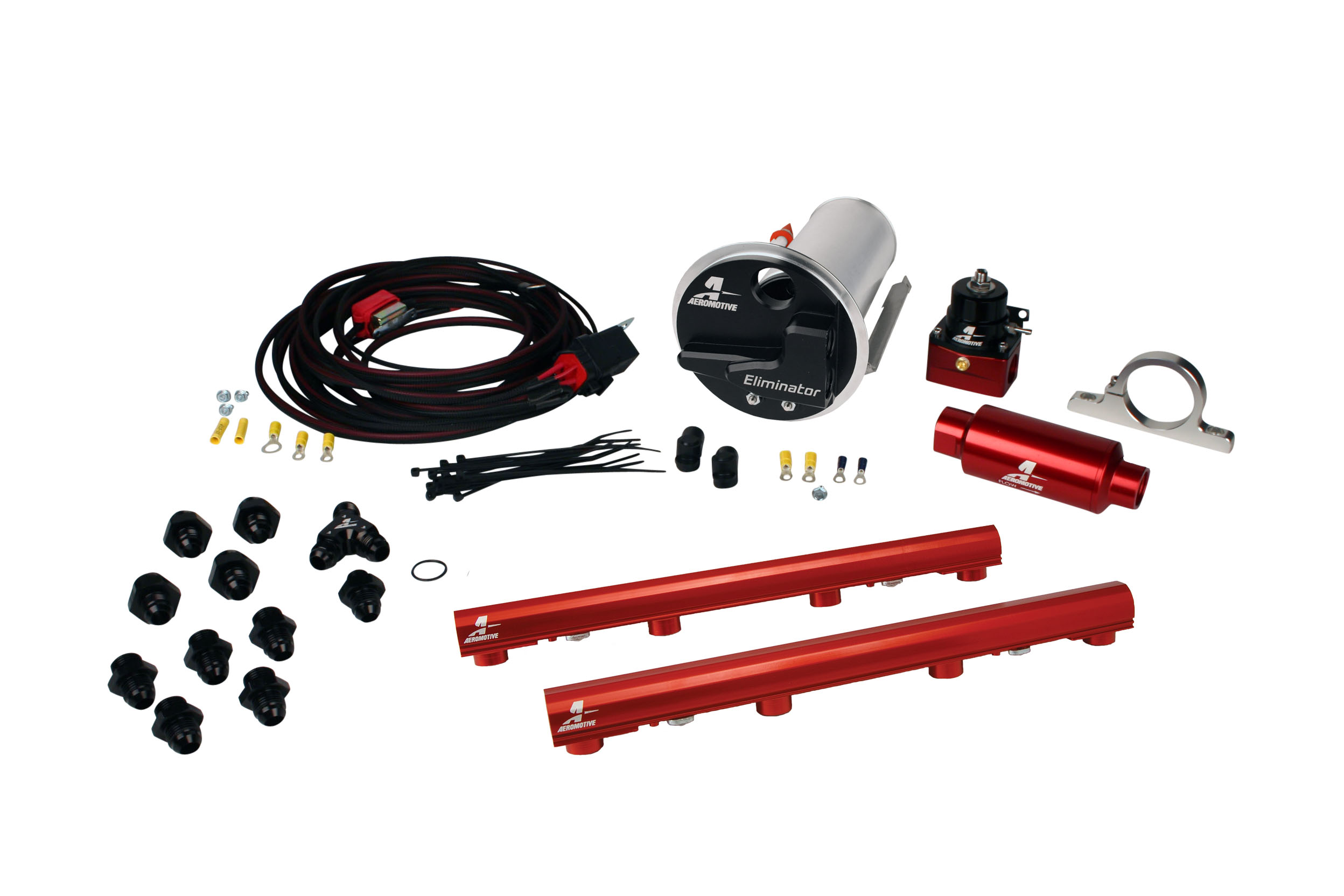 2007-2012 Ford Mustang Shelby GT500 Aeromotive Stealth Eliminator Race Fuel System w/4.6L 3-V Fuel Rails