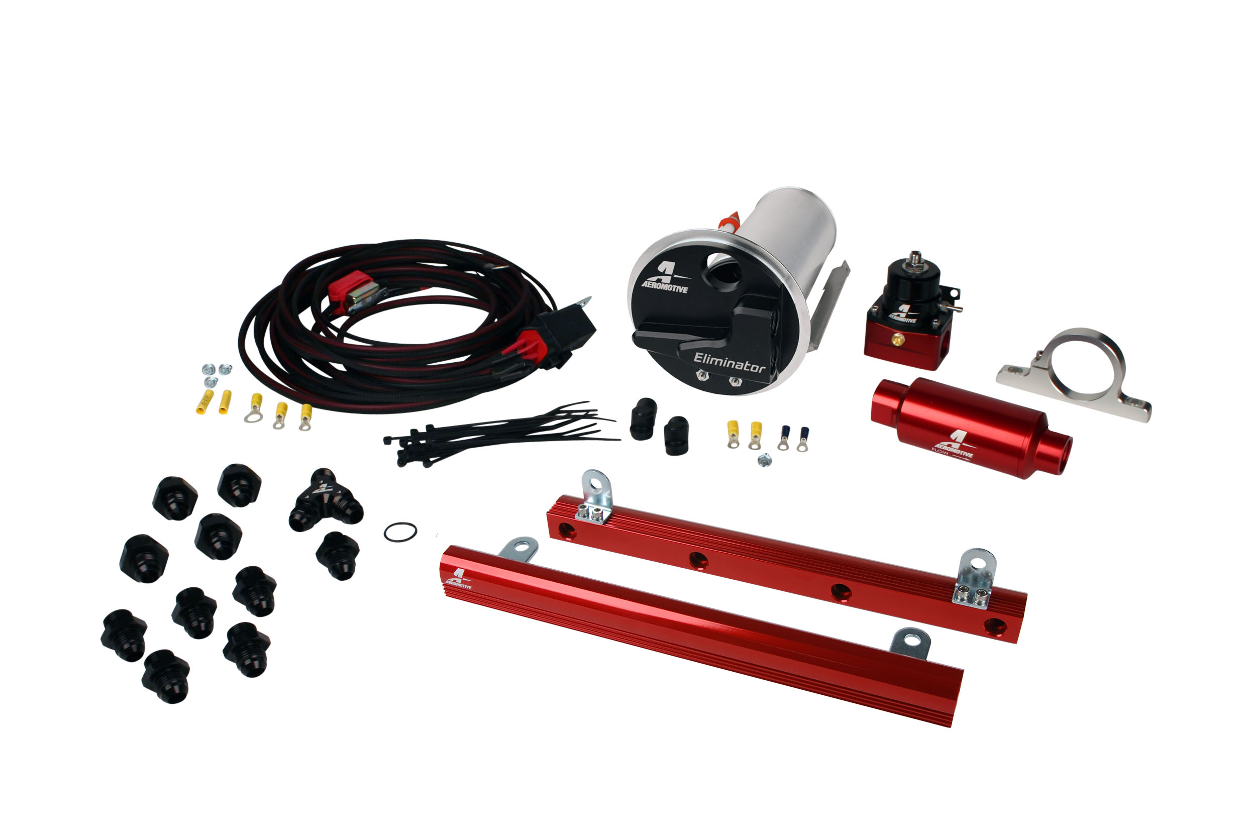 2007-2012 Ford Mustang Shelby GT500 Aeromotive Stealth Eliminator Race Fuel System w/5.4L 4-V Fuel Rails
