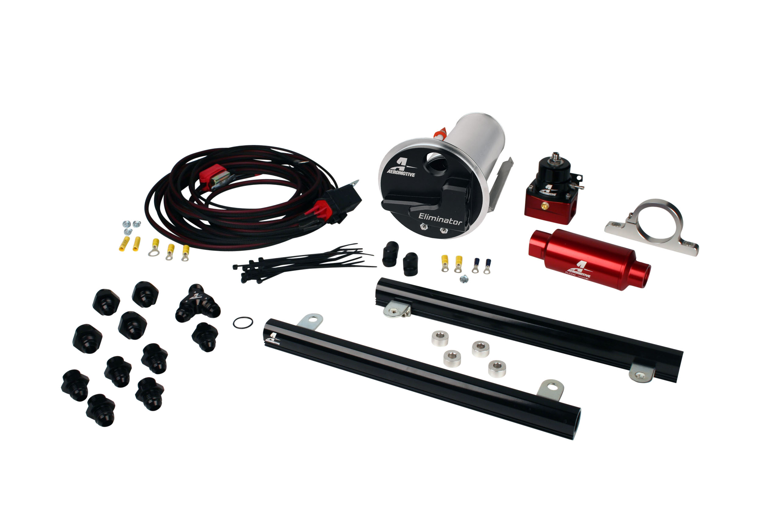 2007-2012 Ford Mustang Shelby GT500 Aeromotive Stealth Eliminator Race Fuel System w/5.4L CJ Fuel Rails