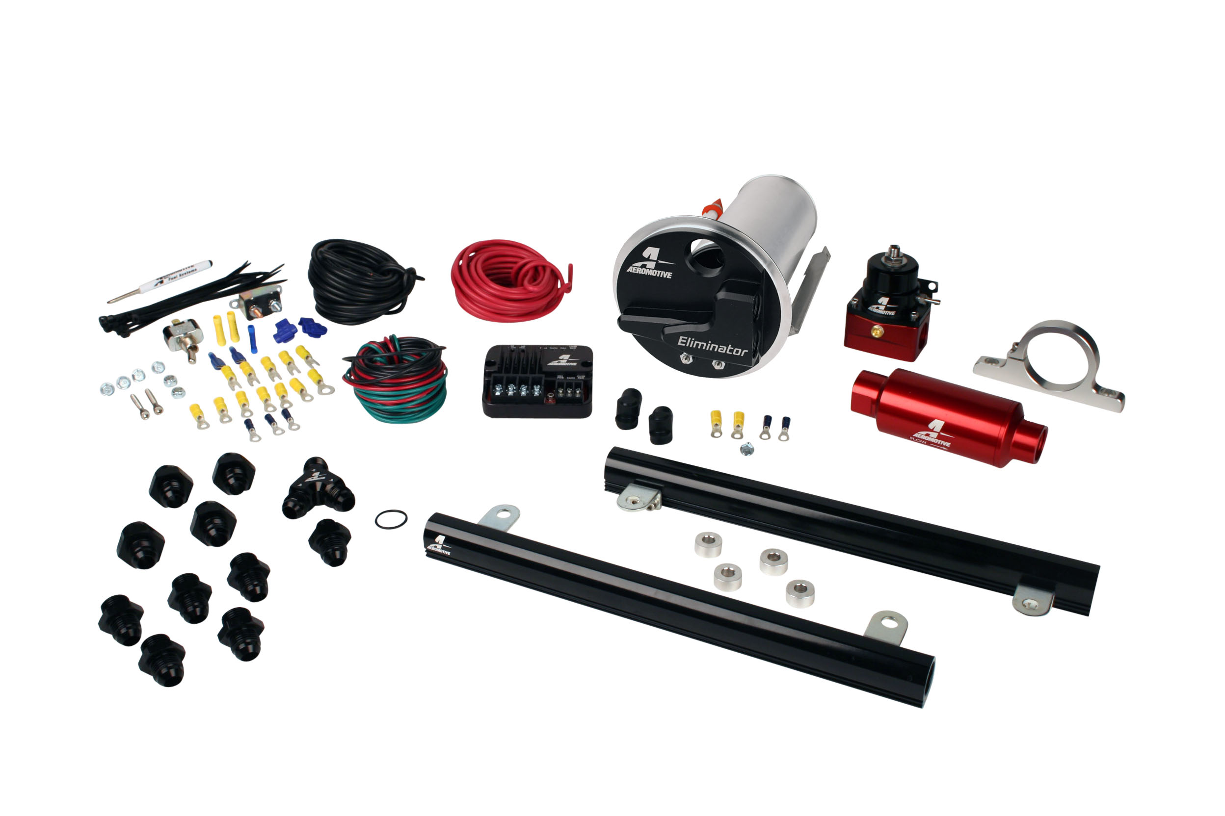 2007-2012 Ford Mustang Shelby GT500 Aeromotive Stealth Eliminator Street Fuel System w/5.4L CJ Fuel Rails