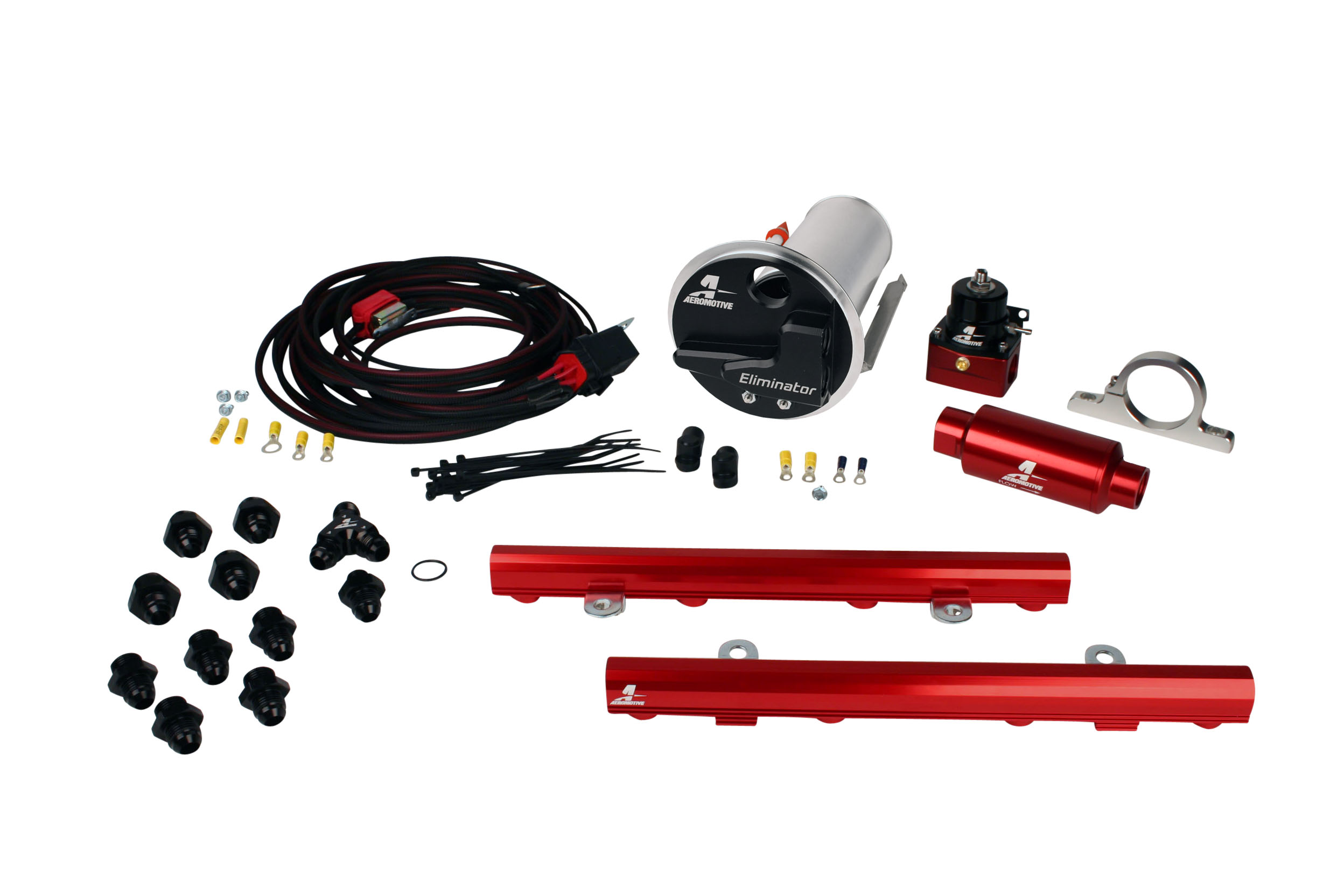 2007-2012 Ford Mustang Shelby GT500 Aeromotive Stealth Eliminator Race Fuel System w/5.0L 4-V Fuel Rails