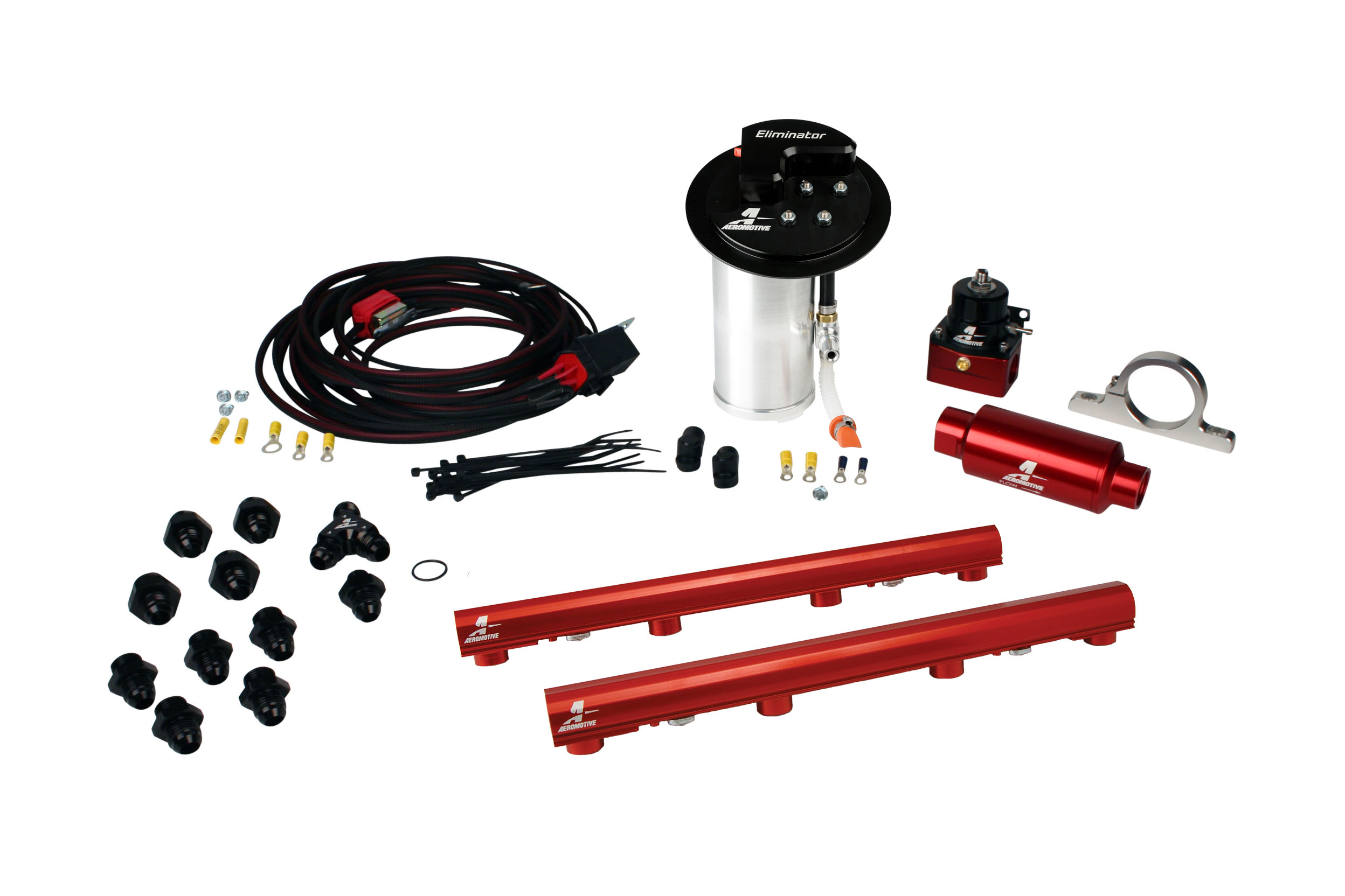 2010-2017 Ford Mustang GT Aeromotive Stealth Eliminator Racing Fuel System w/4.6L 3-V Fuel Rails