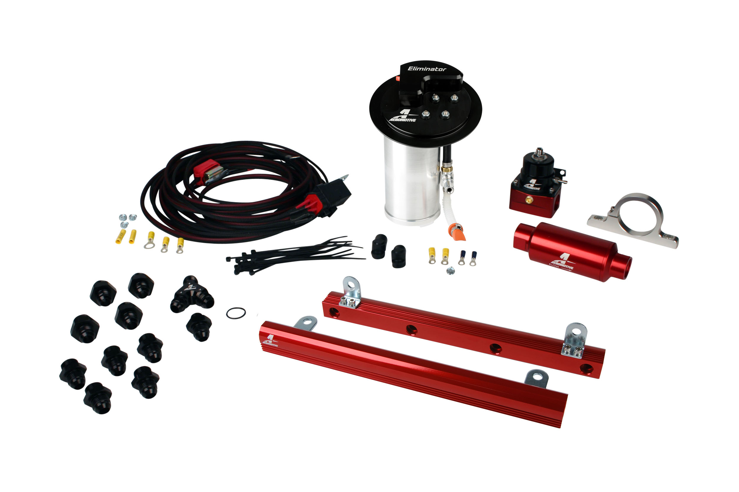2010-2017 Ford Mustang GT Aeromotive Stealth Eliminator Racing Fuel System w/5.4L 4-V Fuel Rails