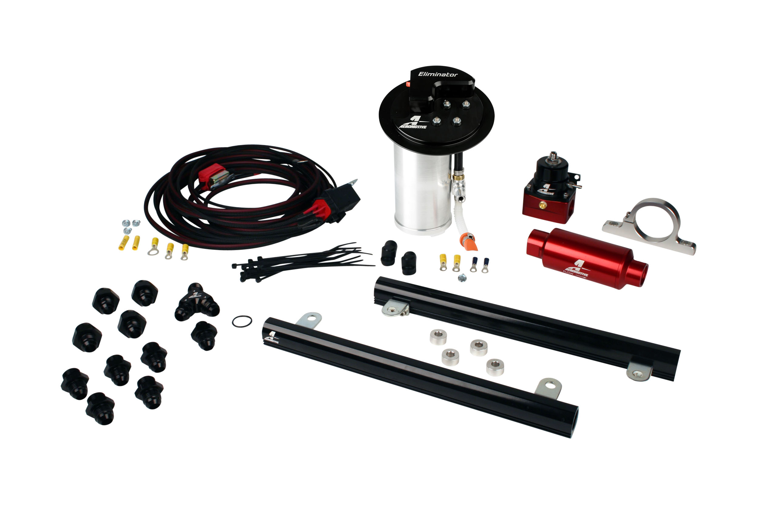 2010-2017 Ford Mustang GT Aeromotive Stealth A1000 Race Fuel System w/5.4L CJ Fuel Rails