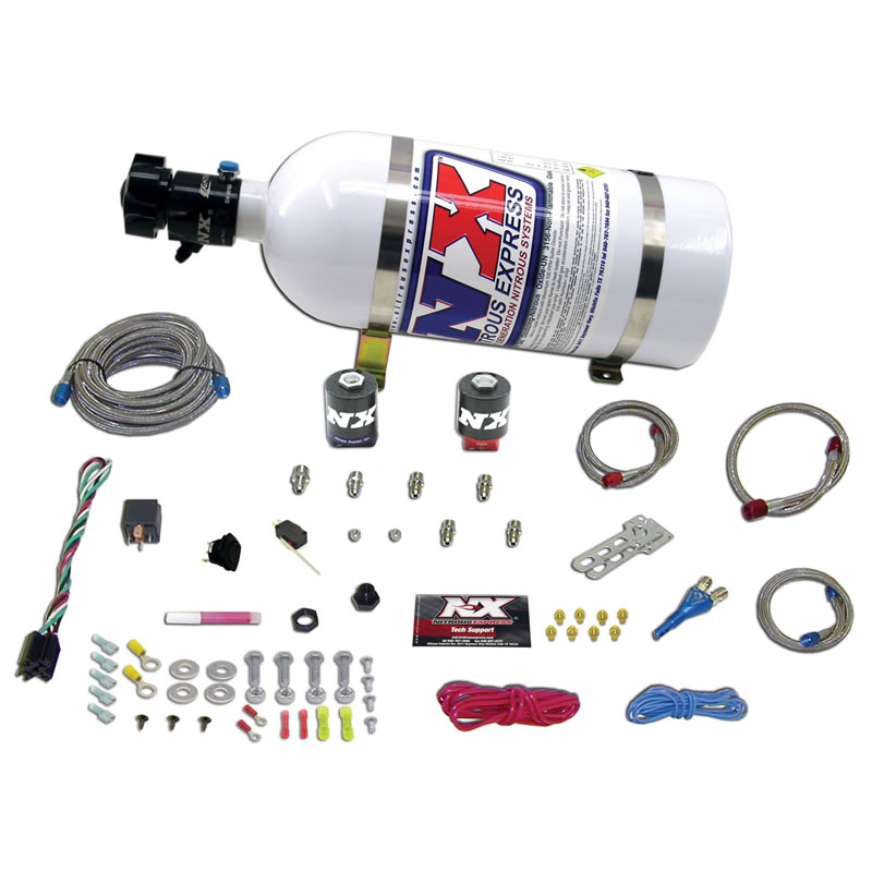 Nitrous Express GM EFI Single Nozzle 100-250HP System - 5lb Bottle
