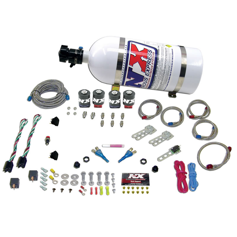 Nitrous Express GM EFI Dual Stage 50-150HP X 2 System - 10lb Bottle