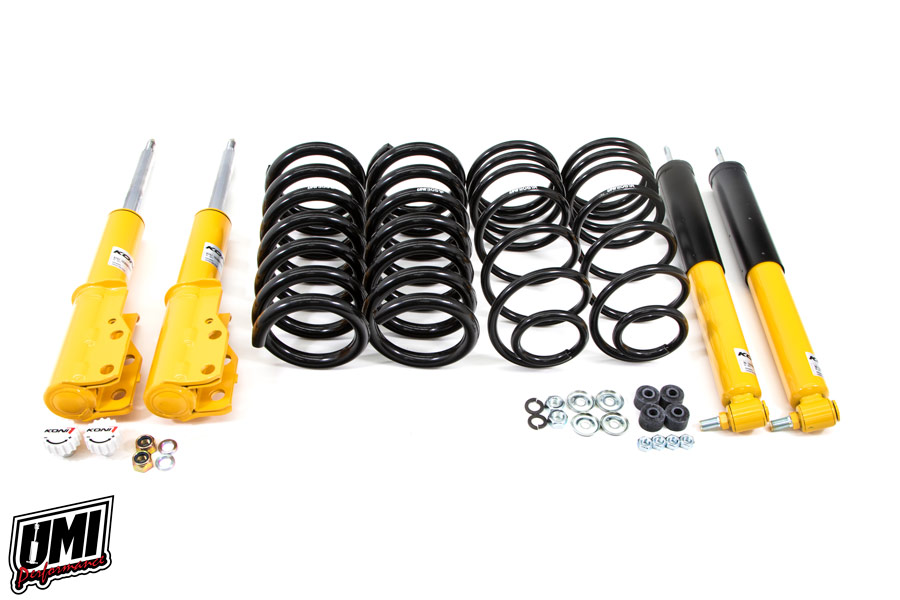 "82-92 Fbody UMI Performance 1""-1.5"" Lowering Spring Kit - Koni On Car"
