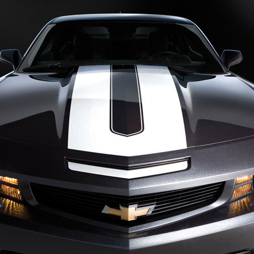 2010+ Camaro GM Performance Decal/Stripe Package - Synergy Stripes - White For use w/Coupes