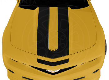 2010+ Camaro GM Performance Decal/Stripe Package - Synergy Stripes - Black For use w/Coupes