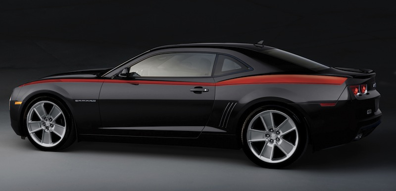 2010+ Camaro GM Performance Decal/Stripe Package - Heritage Stripes - Red