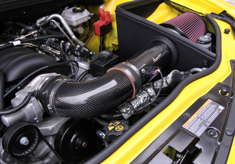 2010+ Camaro SS Halltech Carbon Fiber Yellow Jacket Cold Air Intake