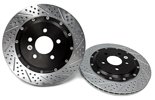 "2015+ Ford Mustang Baer Eradispeed+ 13"" 2 Piece Rotors - Rear"