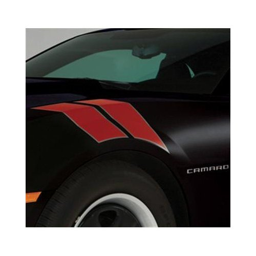 2010+ Camaro GM Performance Decal/Stripe Package - Fender Hash Marks - Victory Red