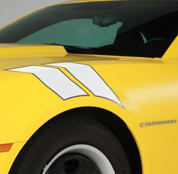 2010+ Camaro GM Performance Decal/Stripe Package - Fender Hash Marks - White Pearl