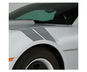 2010+ Camaro GM Performance Decal/Stripe Package - Fender Hash Marks - Cyber Grey
