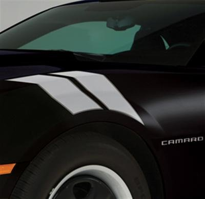 2010+ Camaro GM Performance Decal/Stripe Package - Fender Hash Marks - Light Silver