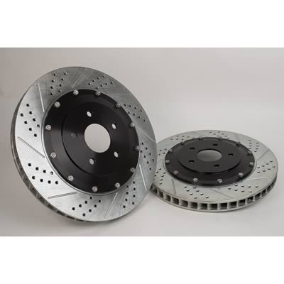2004-07 Cadillac CTS-V Baer EradiSpeed Plus-2 Cross Drilled/Slotted Rotors (Rear Pair)