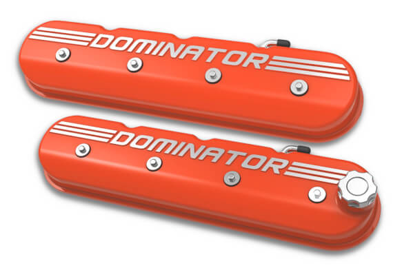 Holley Tall LS Dominator Valve Covers - Factory Orange