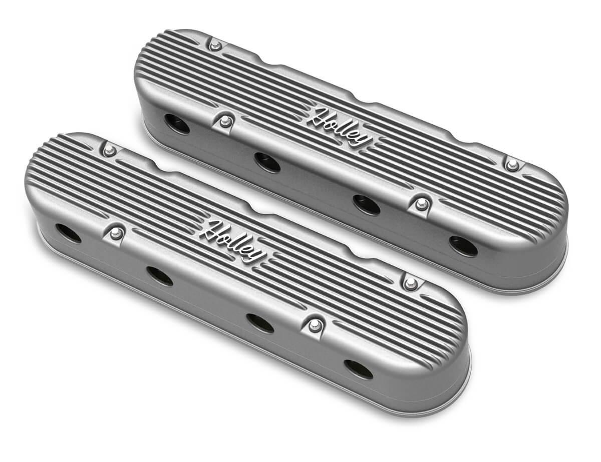 Holley 2-PC LS Vintage Series Valve Covers – Natural Finish