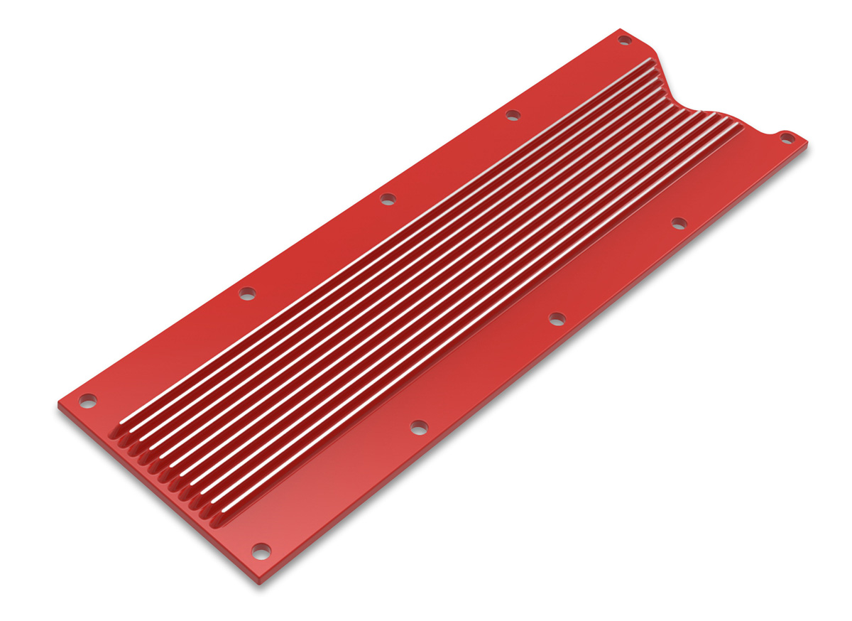 LS1/LS6 Holley Finned Valley Cover - Gloss Red Finish