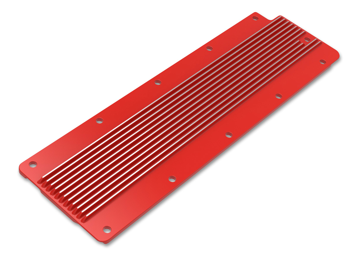 LS2/LS3/LS7/LSX Holley Finned Valley Cover - Gloss Red Finish