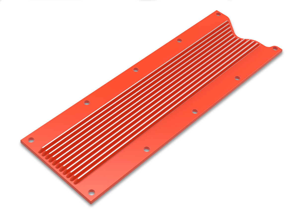 LS1/LS6 Holley Finned Valley Cover - Orange Finish
