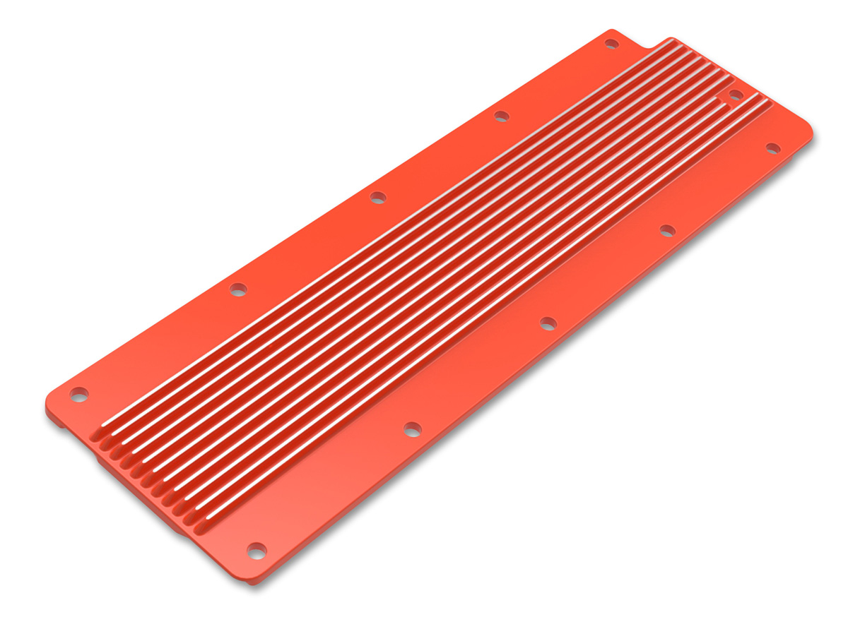 LS2/LS3/LS7/LSX Holley Finned Valley Cover - Orange Finish