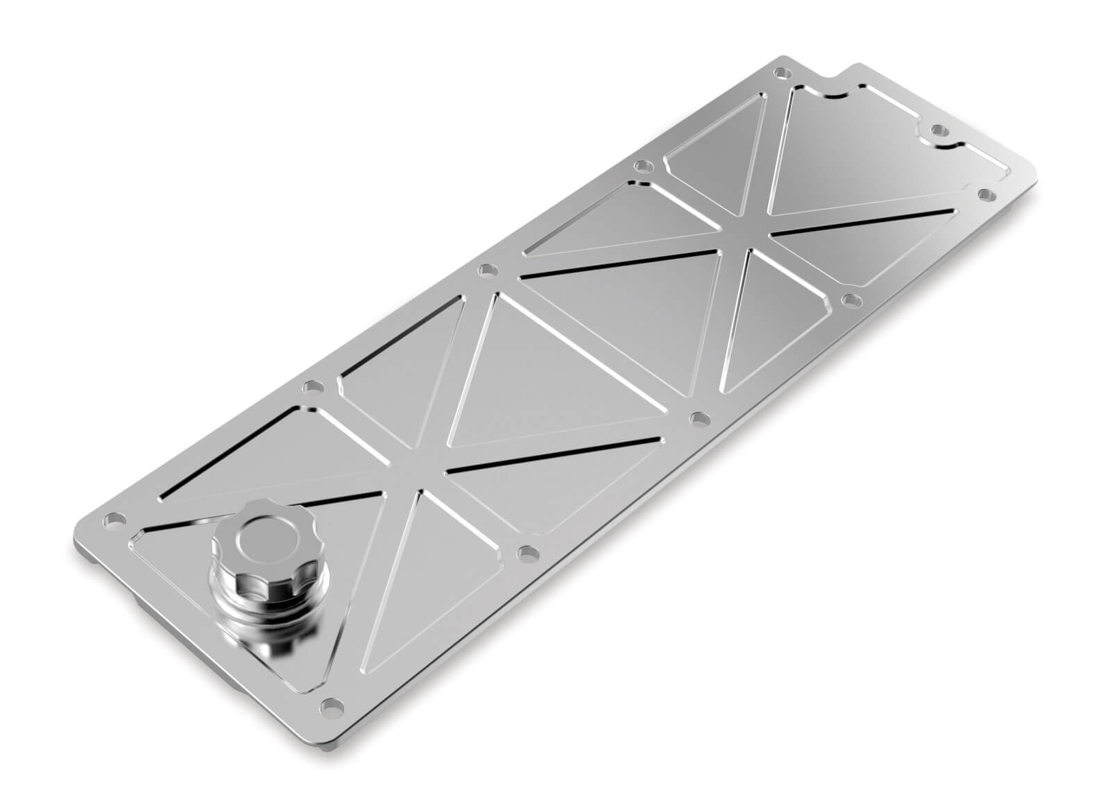 Holley LS2/LS3/LS7/LSX Valley Cover with Oil Fill - Polished Billet