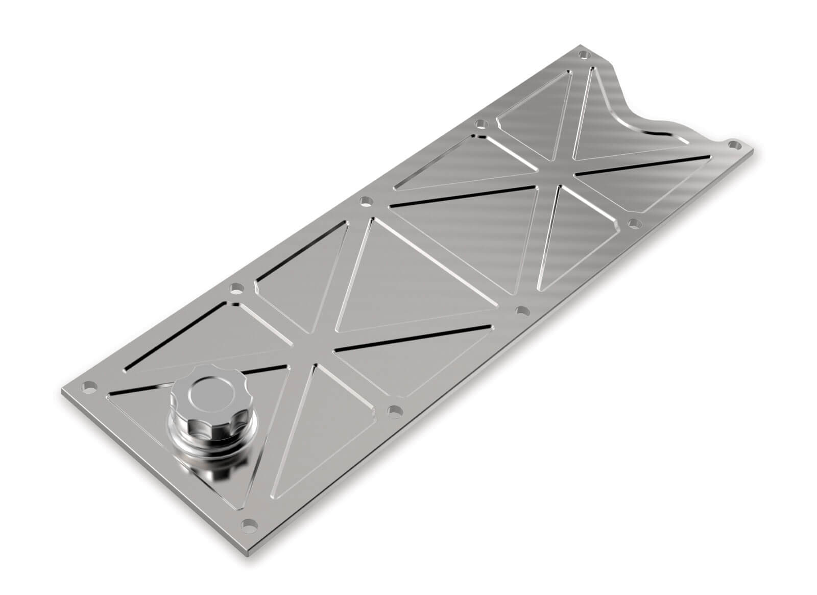 Holley LS1/LS6 Valley Cover with Oil Fill - Natural Billet