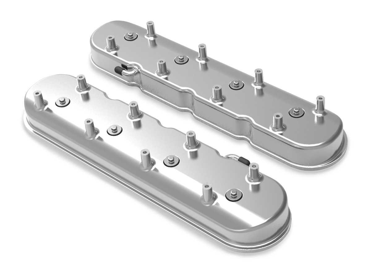Holley LS Tall Valve Cover - Polished Finish (For Dry Sump Applications)