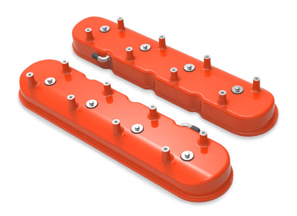 Holley Tall LS Valve Covers for Dry Sump Applications - Factory Orange