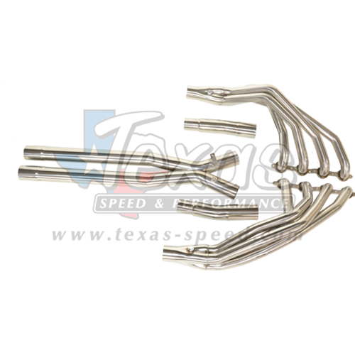 "2005-2008 C6 Corvette Texas Speed & Performance 1 7/8"" Long Tube Headers w/Offroad Xpipe"