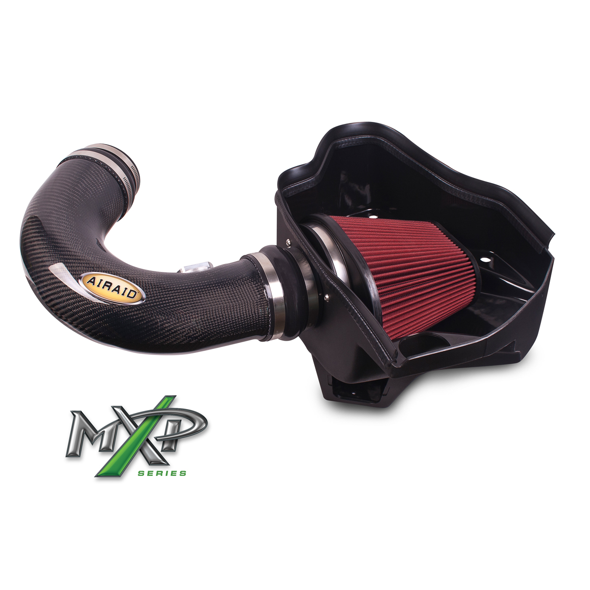 2010+ Camaro SS AIRAID MXP Series Cold Air Dam Intake System w/SynthaFlow Oiled Filter & Carbon Fiber Tube