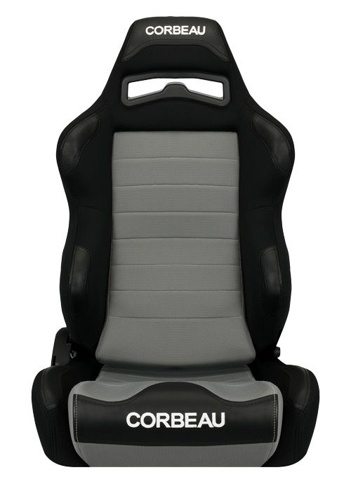 Corbeau LG1 Seats - Black/Grey Microsuede