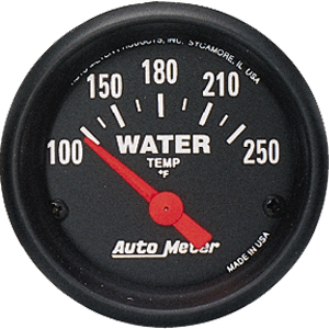 "Auto Meter Z Series Short Sweep 2 1/16"" Water Temperature Gauge - 100-250 Degrees F"