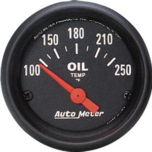 "Auto Meter Z Series Short Sweep 2 1/16"" Oil Temperature Gauge - 100-250 Degrees F"