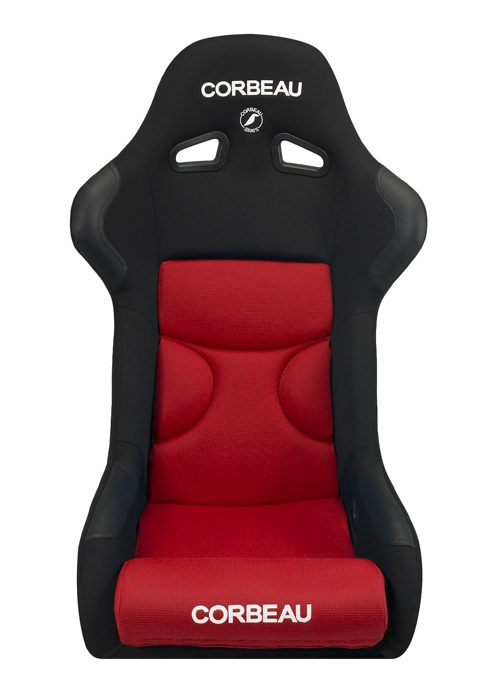 Corbeau FX1 Pro Seats - Black/Red Cloth