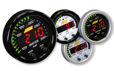 "AEM X-Series 2 1/16"" Water/Trans/Oil Temperature Gauge"
