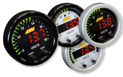 "AEM X-Series 2 1/16"" 8-18 Volts Gauge"