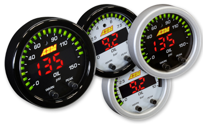 "AEM X-Series 2 1/16"" 0-150 PSI Oil Pressure Gauge"