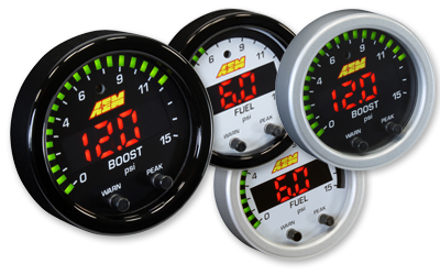 "AEM X-Series 2 1/16"" 0-15PSI Boost/Fuel Presure Gauge"