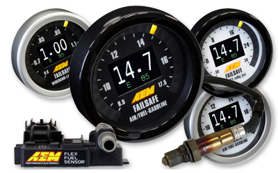 AEM Flex Fuel Wideband Failsafe Gauge - w/Flex Fuel Sensor