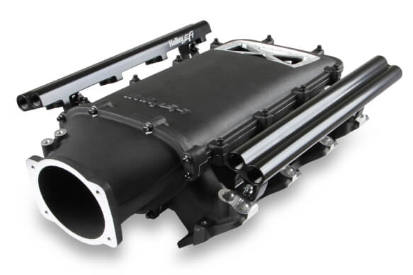 LS1/LS2/LS6 Holley Dual Fuel Injector Lo-Ram Top-Feed EFI Intake Manifold Kit - Black Finish