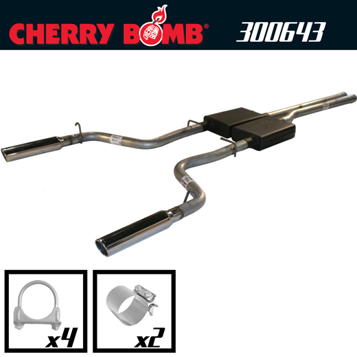 2005-2010 Dodge Charger RT 5.7L V8 Cherry Bomb Dual Vortex Catback Exhaust System